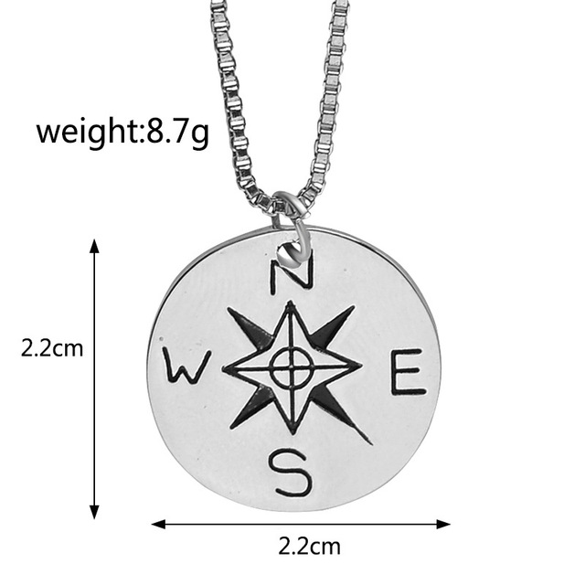 10pcs new inspirational compass necklace not all who wander are 10pcs new inspirational compass necklace not all who wander are lost pendant silver pendant aloadofball Images