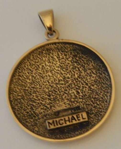 Archangel MICHAEL Talisman in Silver or Gold Tone Bronze - Sigil of Michael  Angelic Pendant