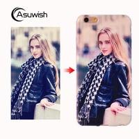 Asuwish Meizu M5 Case Luxury Custom Diy Photo Transparent TPU Phone Case Silicone Soft Cover For