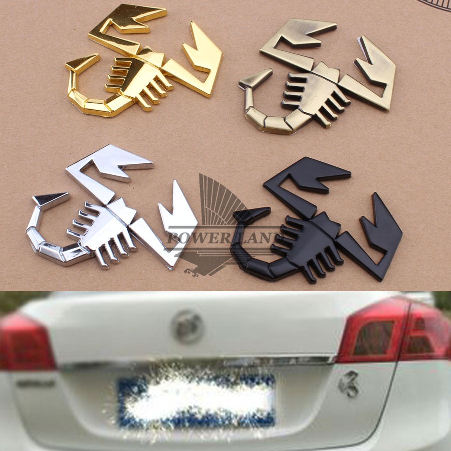 3d car abarth ar metal adhesive badge emblem logo decal stickers scorpion car truck auto decor