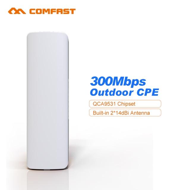 300 Мбит Открытый wi-fi маршрутизатор cpe 64 М RAM 2 * 14dBi wi-fi антенны 500 МВт высокой мощности 2.4 г WIFI репитер междугородной Беспроводной мост