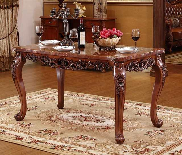 Us 2250 0 Elegant Dining Table Marble Table High Grade Solid Wood Carving Rectangular Dining Table Furniture In Dining Room Sets From Furniture On