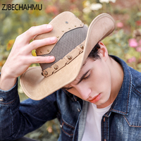 ZJBECHAHMU Hats Casual Solid Leather European and American style Fedoras Hat For Men Women Snapback Hat New Apparel Accessories