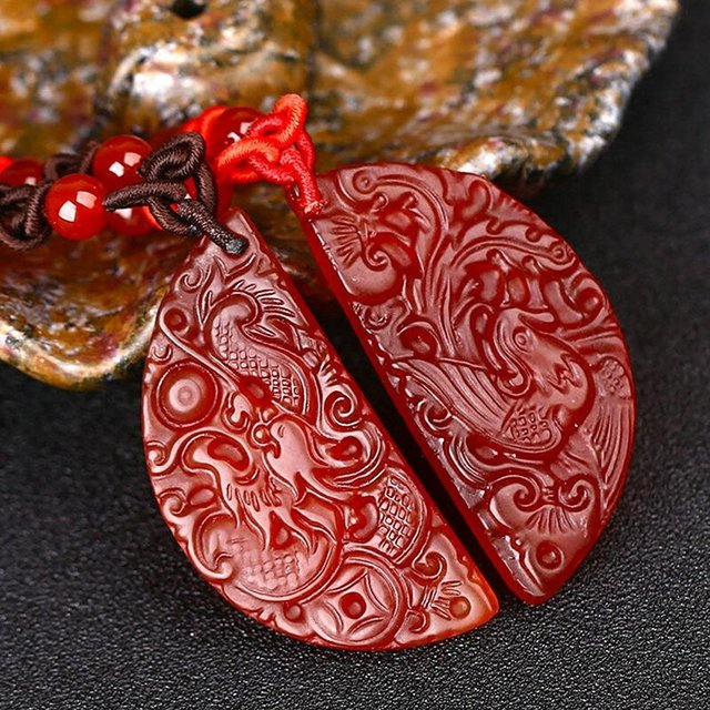 Lovers Pair Fine Jewelry Red Agate Necklace4