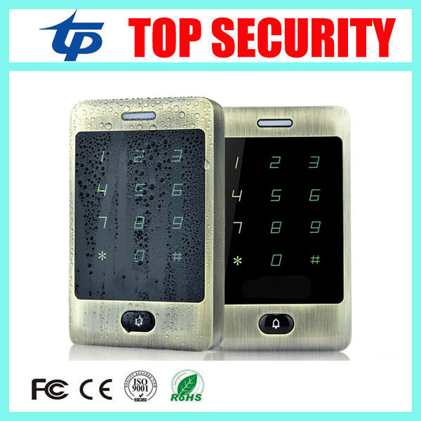 Good quality touch screen waterproof door access control terminal 8000 users 125KHZ RFID smart card door access control reader original access control card reader without keypad smart card reader 125khz rfid card reader door access reader manufacture