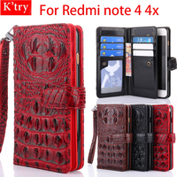 Case For XiaoMi Redmi Note 4 Cases Leather Wallet Flip Cover Phone Bags Cases For Xiaomi