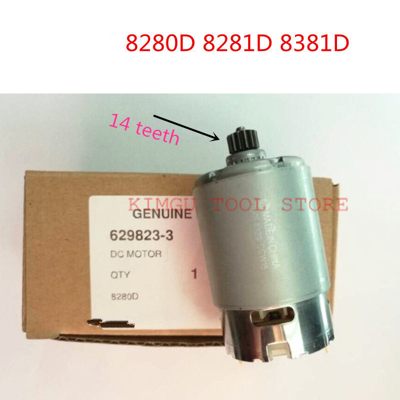 629822b5 - DC 14.4V Motor 629823-3 629822B5 for MAKITA 8280D 8281D BHP343 MT080 8381D 8280DWPE 8281DZ 8281DW Machine motor