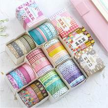 5PCS/Pack Color combination line corrugation Washi Tape DIY Decorative Tape Color Paper Adhesive Tapes Stationery supplies(China)