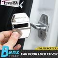 4 pcs de aço Inoxidável capa fivela fechadura Da Porta decoração Do Carro estilo Do Carro adesivos para Mercedes Benz GLK AMG classe C E GLC GLA logotipo