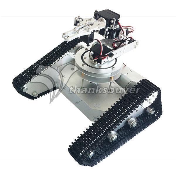 Робо душа tk 6a автомобиль рептилия грузовик гусеничный RC робот База комплект с 6DOF рука робота 6 шт. ld 1501mg цифровой servo