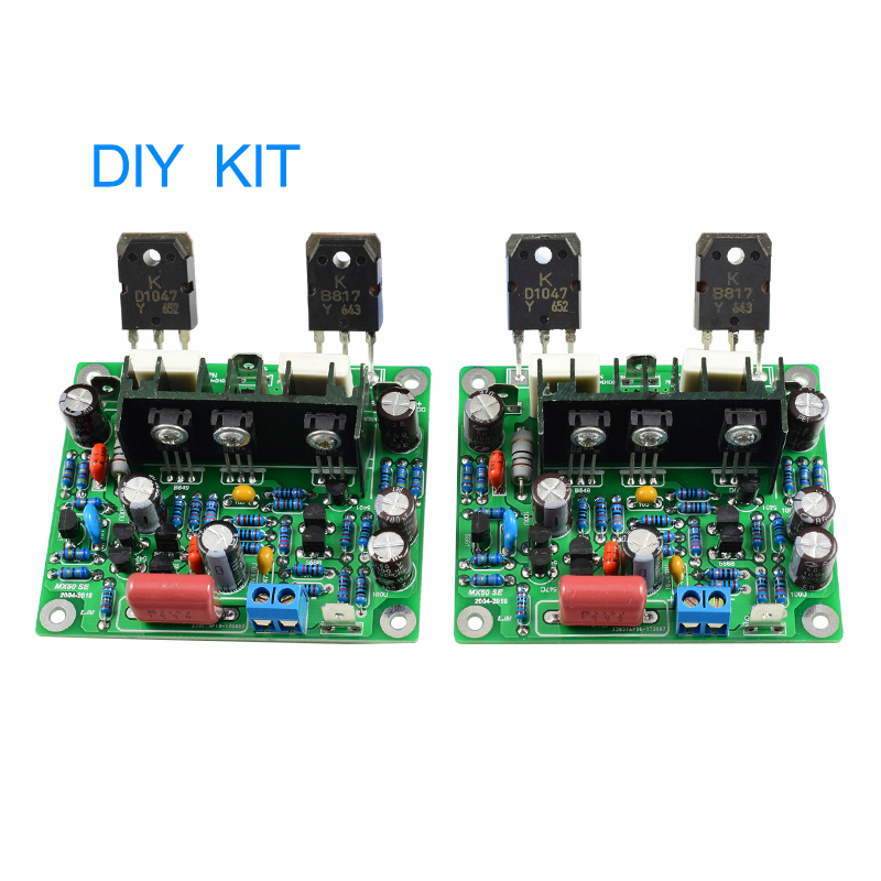 2 pcs MX50 SE 100WX2 Dual Canais amplificadores de Potência de Áudio Kit Diy Placa Nova Versão
