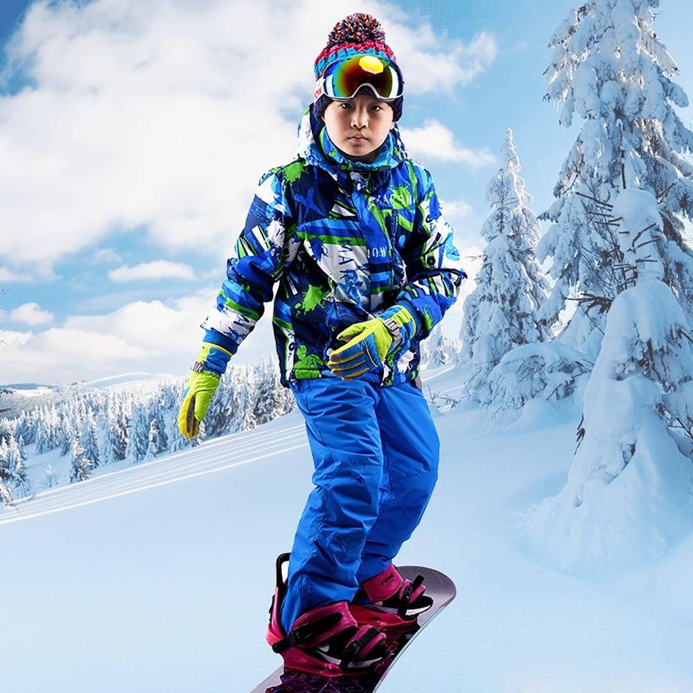 Goexplore Ski Suit For Girls 110 160 Baby kids Waterproof Windproof Warm Winter Jumpsuit Sport Snow