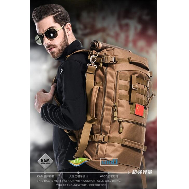 60 l backpack travel combinations camouflage multi-function backpack cool Fashion 16inch laptop best backpack casual bag student