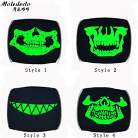 10pcs Lot Fashion Adult Mouth Mask Cosplay Luminous Black Cotton Cartoon Funny Skull Teeth Half Face