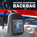 Светодиодный динамический дисплей рюкзак WiFi ноутбук Тетрадь приложение Управление 20L DC5V Водонепроницаемый ранец светодиодный рюкзак сумк...