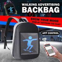 LED Dynamic Display WiFi Backpack Laptop Notebook APP Control 20L DC5V School Bag Waterproof LED Backpack Bag For Advertising