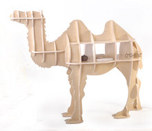 Free shipping 100% wood 3 colors European style creative DIY wooden camel table Luxury home accessories Christmas decoration