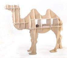 Бесплатная доставка 100% дерево 3 цвета Европейский стиль творческий СДЕЛАЙ САМ деревянный верблюд стол Роскошные аксессуары для дома Рождественские украшения