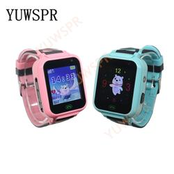 """1 шт. Детские умные часы T16 наручные часы с gps-трекером SOS gps Wi-Fi местоположение водонепроницаемый IP67 фонарик cameraHD 1,44 """"часы для детской T16"""