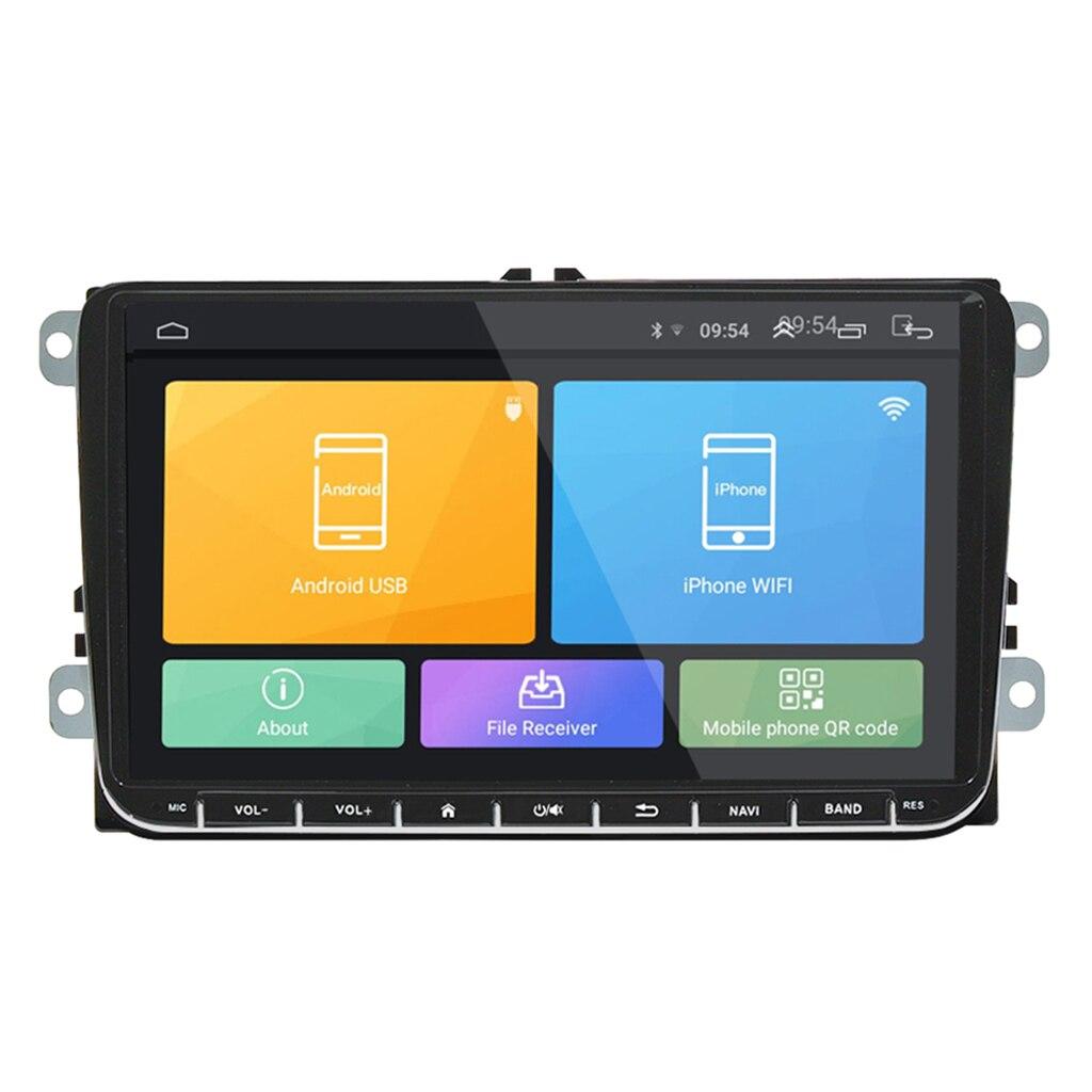 Autoradio Android stéréo 9 pouces écran tactile capacitif HD GPS Navi pour VW