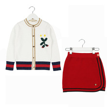 Baby Girls Clothing Set 2018 Todder Girl Suit Winter Skirt Sweater + Short 2pcs Outfits for 1 2 3 4 6 Years