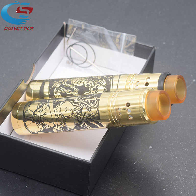 SUB TWO Mechanical Mod Kit e-cigarette 18650 battery Brass 24mm Vapor Vaporizer vape VS Tower mod Kit elthunder Mod get low v3