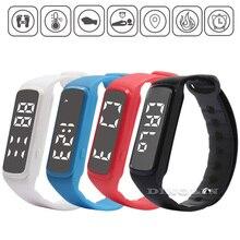 Gzdl Спорт Смарт часы LED Дети Группа шагомер дети Температура фитнес-монитор Цифровой браслет мальчик девочка браслет WT8126