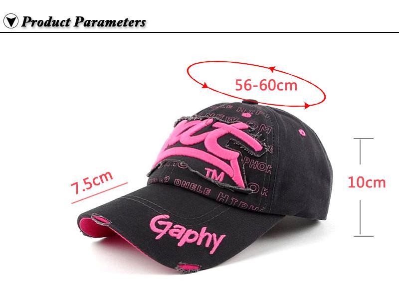 "Embroidered ""Bat"" Baseball Cap - Product Parameters"