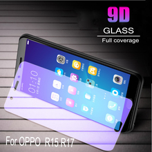 100pcs Glass Protective Film 9D Full Cover Tempered Glass For OPPO R15 R17 Screen Protector   Anti Blue Ray  Glass film 100pcs dental universal x ray film mount frame 100pcs 2holes