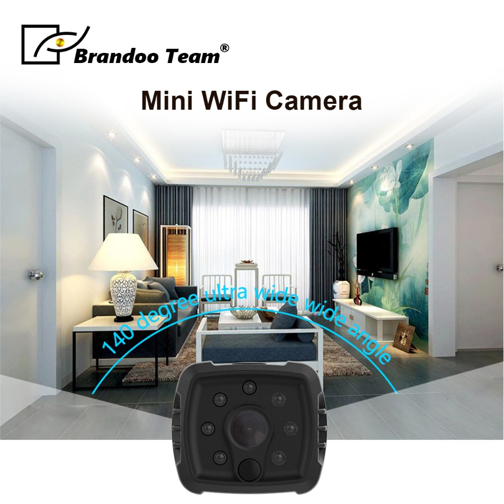 HD 1080P Wireless Mini WIFI Night Vision Smart Home Security IP Camera Monitor Baby Monitor P2P Mini Wearable IP Camera