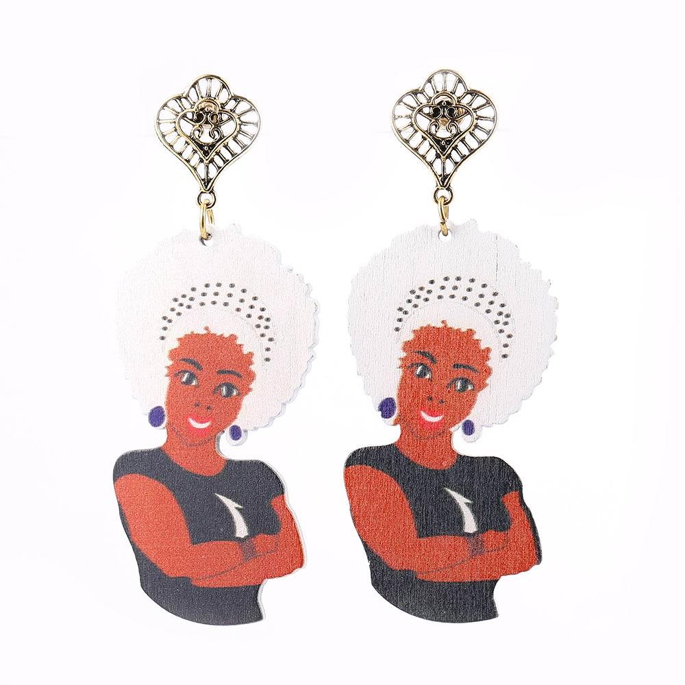 online shop stamped native american aboriginal figure wood afro