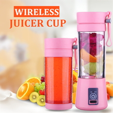 Mini Portable Juicer Cup USB Electric Juice Extractor Wireless Blender Rechargeable Mixer Fruit Squeezer Handheld Smoothie Maker цена и фото