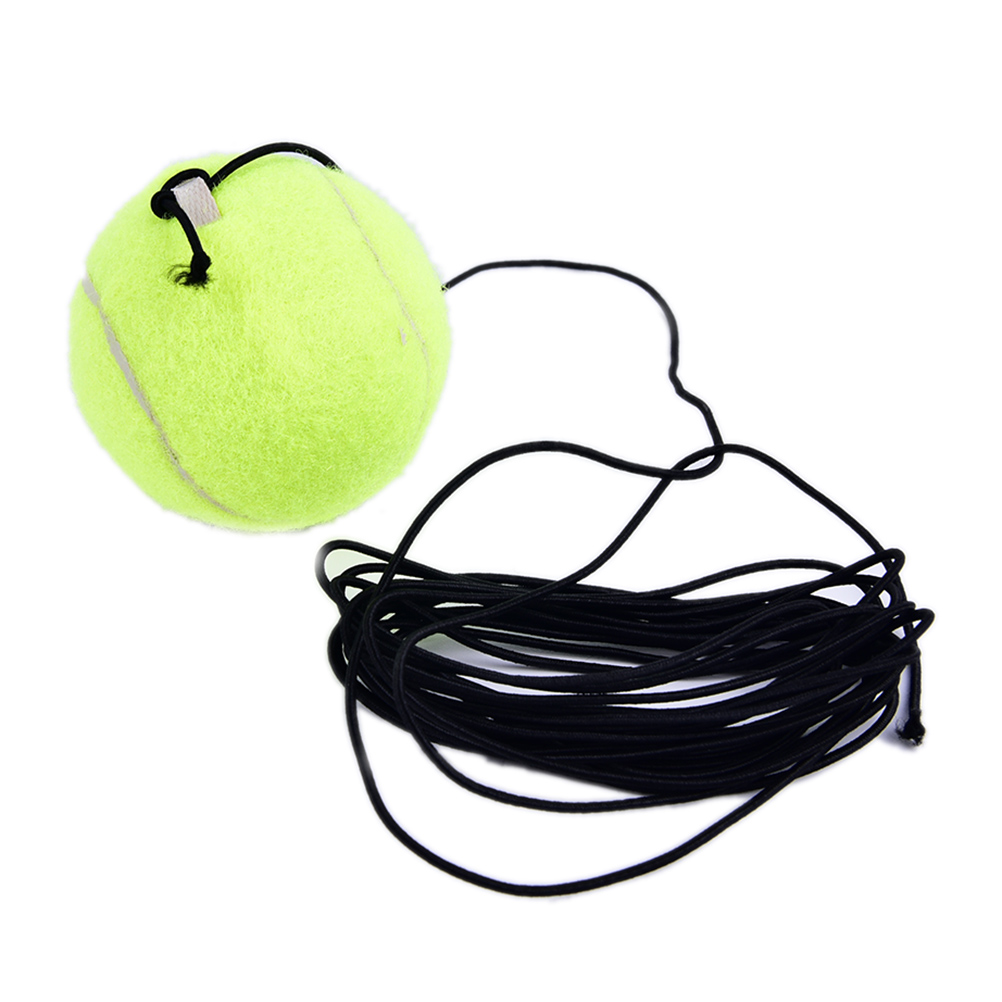 New 1Pc Exercise Ball Tennis Training Balls Trainer With Rubber Rope Trainer Train Tool Tennis Ball Sports