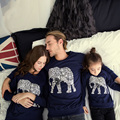 Family Matching Christmas Pajamas Autumn Winter Clothing Sets Mother Daughter Father Son Baby Clothes House Full Sleeve Tshirts