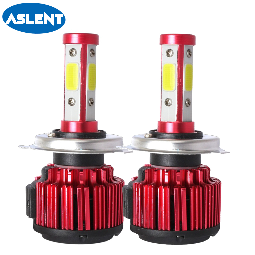 Aslent H7 H4 H11 H8 H13 9005 9006 9007 <font><b>9012</b></font> 5202 <font><b>LED</b></font> Car Headlight Bulbs 100W 10000LM/pair 6500K Auto Headlamp light 12V 24V image