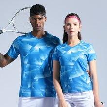 Рубашка для бадминтона мужчин и женщин Спортивная рубашка трикотажная