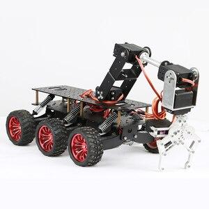 Image 3 - 6WD מתכת רובוט קרוס קאנטרי מארז DIY פלטפורמת לarduino רובוט WIFI רכב מחוץ לכביש טיפוס פטל Pi צבע שחור