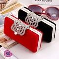 Patrón de FLORES Mujer Paquete Europeo de Noche Mano Tome Paquete Alta Archivo Abajo Paquete 929 Paquete de Cáscara del Diamante Mini-