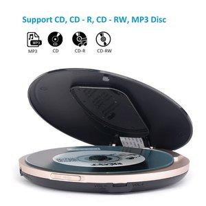 Image 3 - HOTT Mini Portáteis CD Player Recarregável Bateria Embutida, Compact Disc Player Pessoal com Display LCD, função Anti Choque