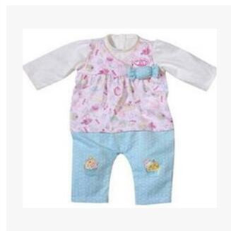 Leisure Blue Set Doll ClothesFit For Born 43cm Doll Clothes Doll Accessories For 17inch Baby Doll