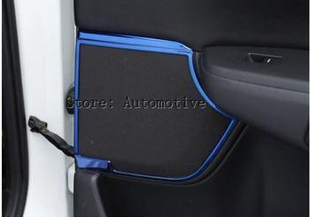 להונדה CRV 2017-18 סטיילינג רכב 8 יחידות רמקול דלת מדבקות כיסוי קישוט נירוסטה