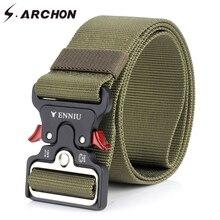 S.ARCHON Heavy Duty Quick Release Военный пояс Мужчины Выживание SWAT Боевые тактические ремни Мужчины Amry Soldier Safety Nylon Belts 5CM