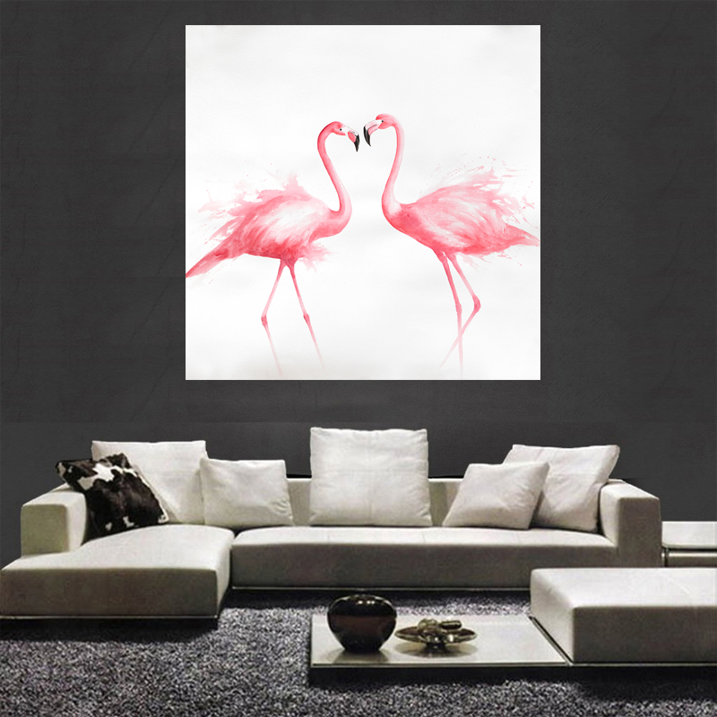 Aliexpress.com : Buy HD Abstract Flamingo Wall Art Canvas