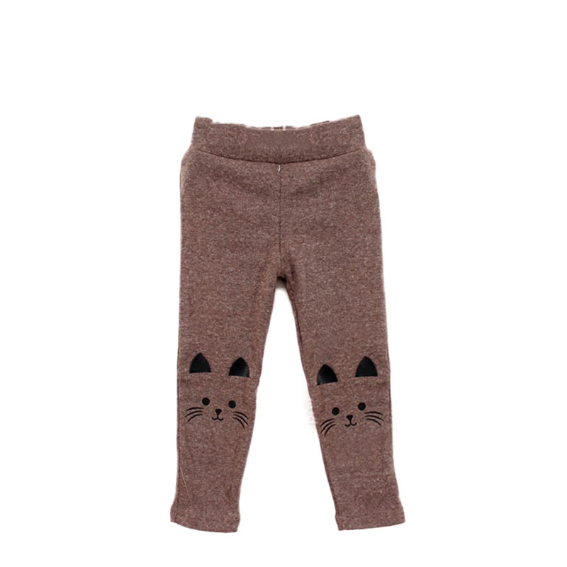 b443817fd Puseky Autumn Winter Girls Embroidery Jeans Children Cashmere Pants ...