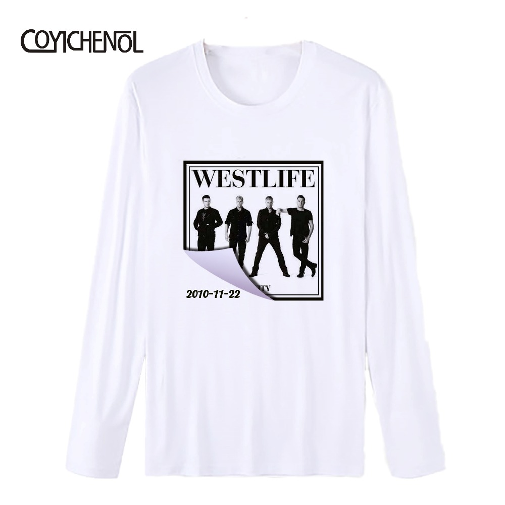 Westlife 20th Anniversary Album poster new Man modal O-neck long sleeve  Print t-shirt COYICHENOL