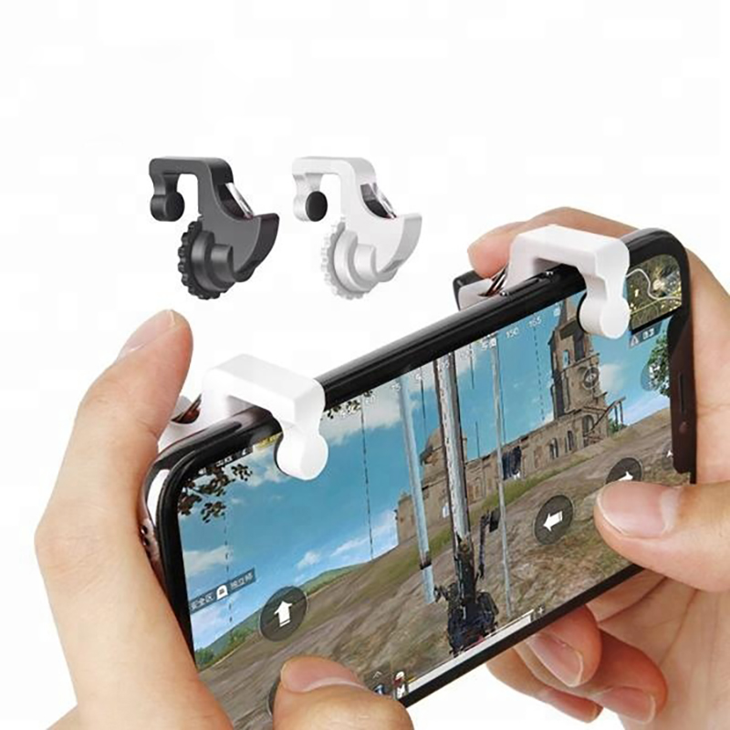10 Pair PUBG Mobile Phone Games Metal Mechanical Key Trigger Joystick Game Assistant Button Controller Gamepad For IOS Android