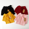 Autumn Winter Kids sweater coat Cartoon Pineapple  Cardigan Thicken Children outwear 1-7 years toddler girls clothes