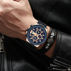 Image 5 - CURREN Men Watch Top Luxury Brand Stainless Steel Business Clock Chronograph Army Sports Quartz Male Watches Relogio Masculino