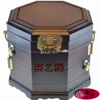 Rosewood mirror box black wood plain old material jewelry box jewelry box red wood carving furniture Decoration Wedding Gifts