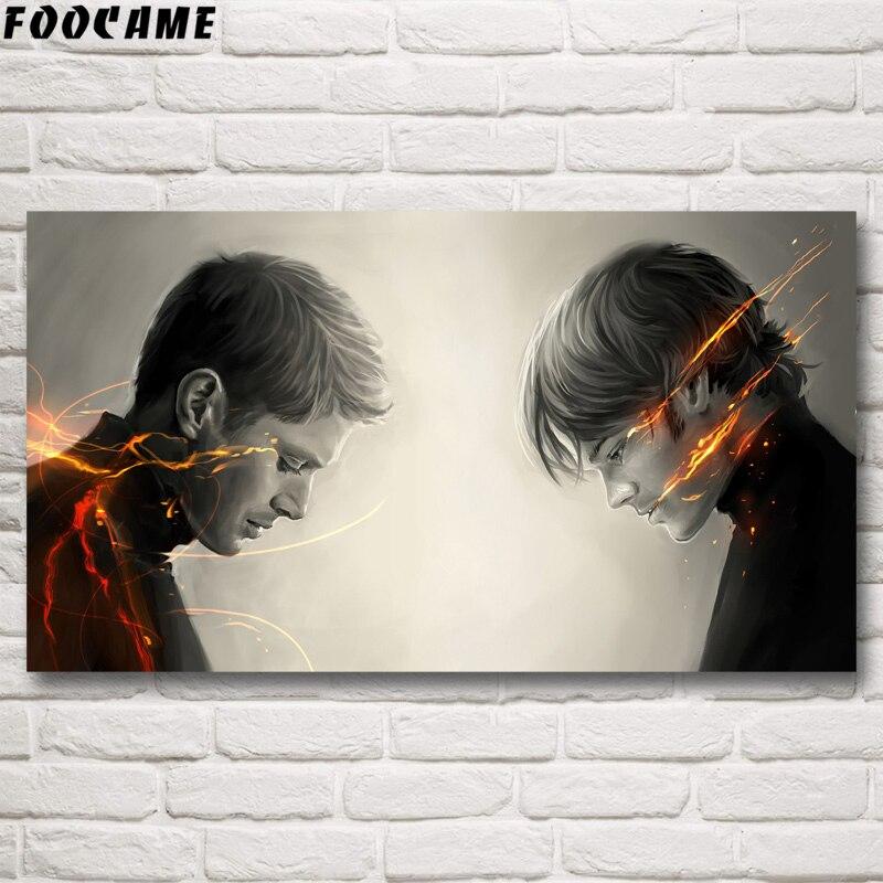 "Supernatural Devil Ghost Silk Fabric Poster Print 13x20 24x36/"" Sam /& Dean 002"